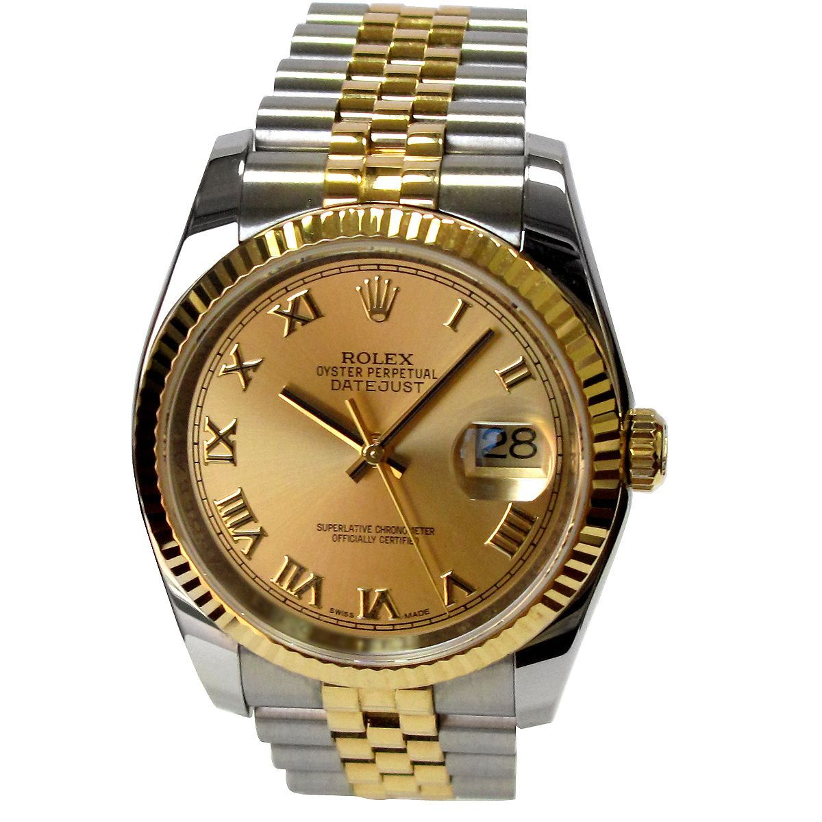 Preowned mm rolex twotone datejust watch by preowned rolex