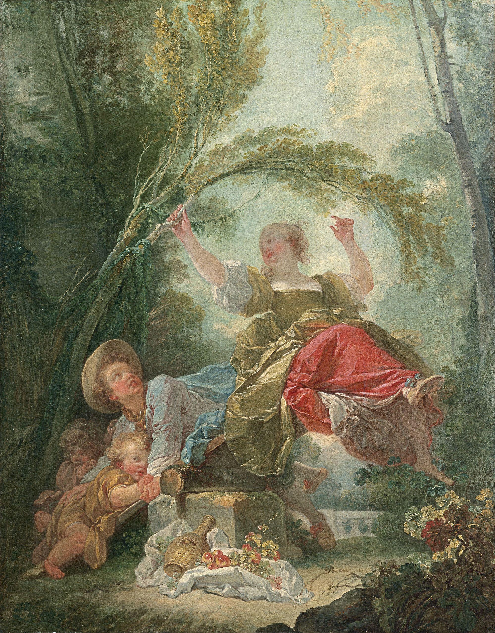 El columpio - Jean-Honoré Fragonard | Museo Thyssen | Rococo art ...