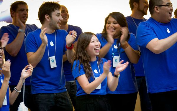 Apple employees express brand of company. Article in NYT.