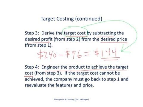44 Managerial Accounting 7 7 Cost Plus Pricing And Target