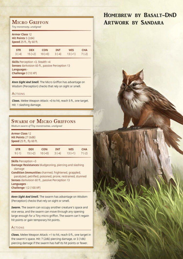 Some creatures for Dnd 5e Dungeons, dragons homebrew, D