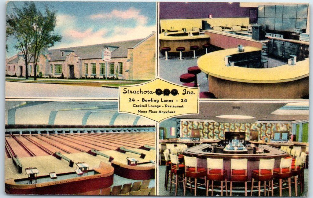 Milwaukee Wisconsin Postcard Strachota S Milshore Bowl Bowling Alley Linen Ebay Milwaukee Wisconsin Milwaukee Bowling