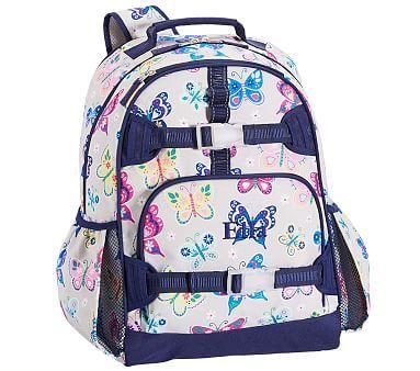 10712de10343 Mackenzie Gray Rainbow Butterfly Backpack