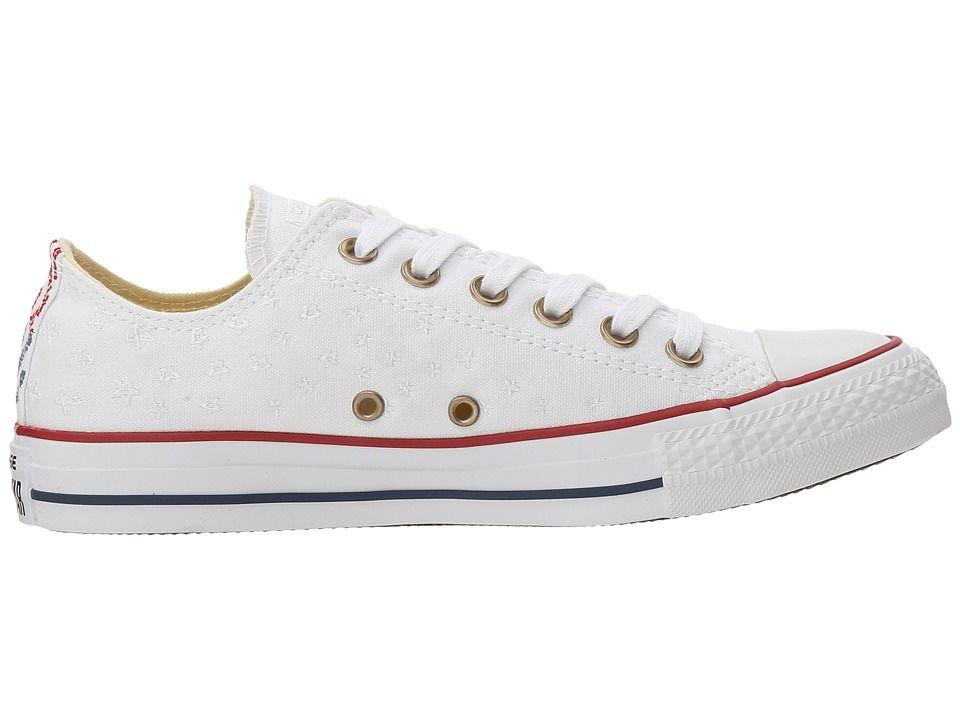 d7e04c8abe12 Converse Chuck Taylor(r) All Star(r) Festival Embroidered Ox Women s  Classic Shoes White Casino White