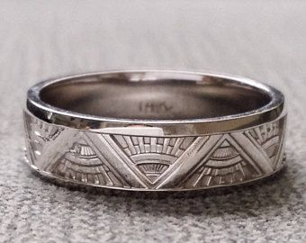Rustic Mens Wedding Band Ring Chemistry Science Brushed Adrenaline
