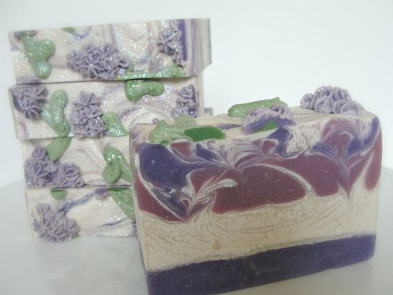 Lavender and Lilac Handcrafted Artisan Soap by ASpoonfullOfSoaps