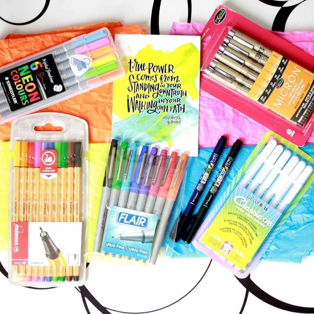 A Huge Thank You To For This Amazing Prize Pack Full Of Pens I Cant Wait Try Them All Out These Are New Me Except The THINGS ARE
