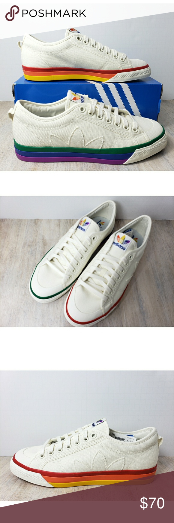 Adidas Shoes 80% OFF!>> Adidas Originals Nizza Pride Rainbow Adidas Originals Nizza Pride Rainbow Off White New with box. adidas Shoes #Adidas #Adidasshoes #shoes #style #Accessories #shopping #styles #outfit #pretty #girl #girls #beauty #beautiful #me #cute #stylish #design #fashion #outfits #diy #design