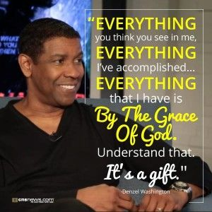 You may have seen on the news or Facebook this past week that Denzel Washington gave a commencement speech at Dillard University in New Orleans, Louisiana. He opened his talk to the graduates with ...
