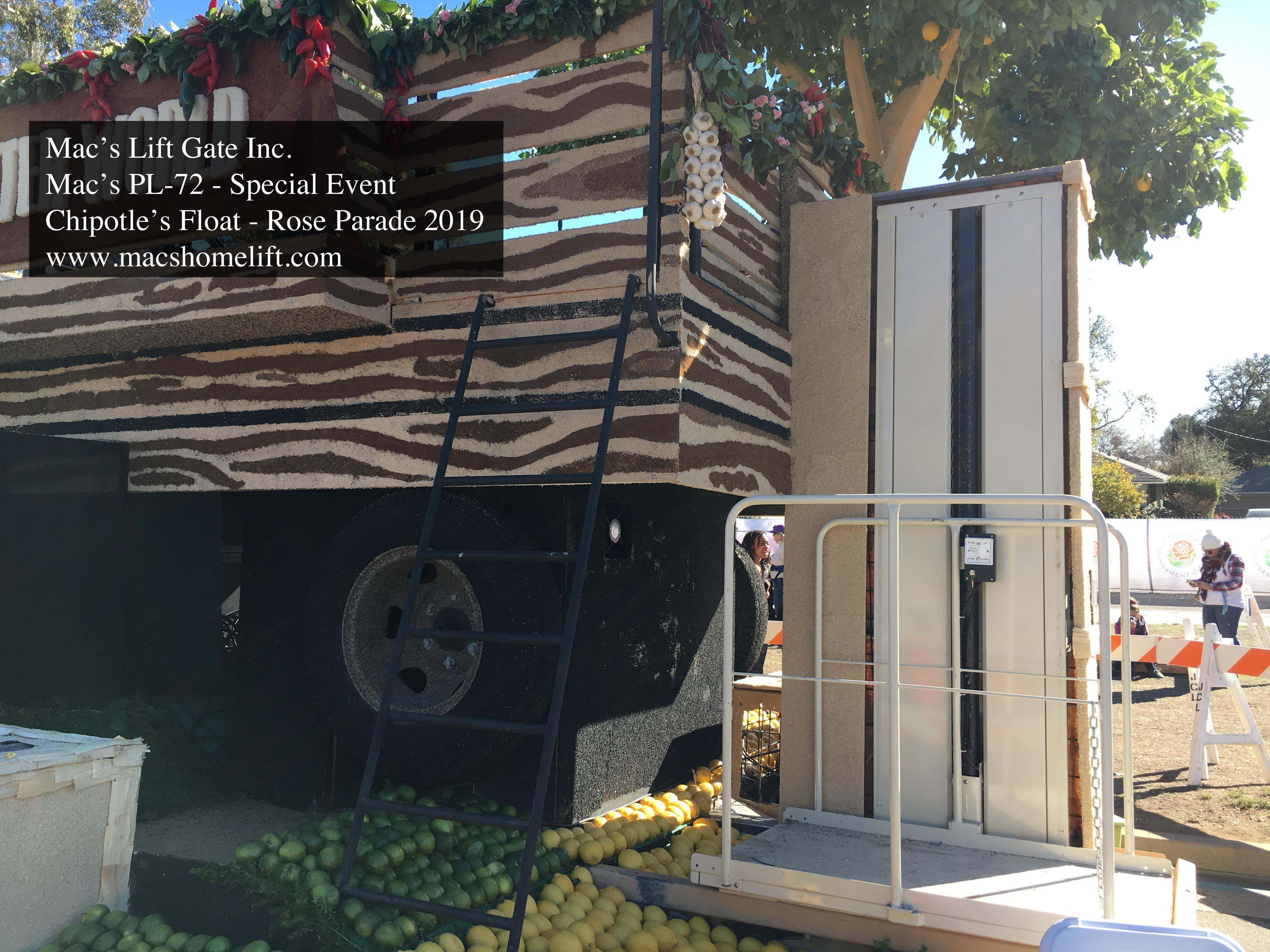 Mac's PL50 Rental Wheelchair Lift ADA Compliance 750 lbs