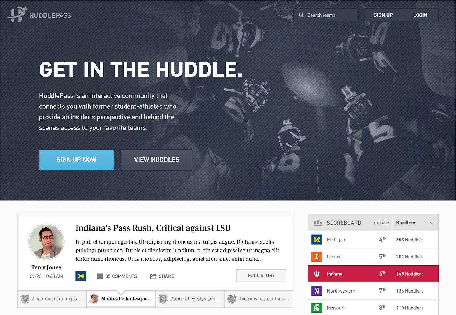 Developer site inspiration