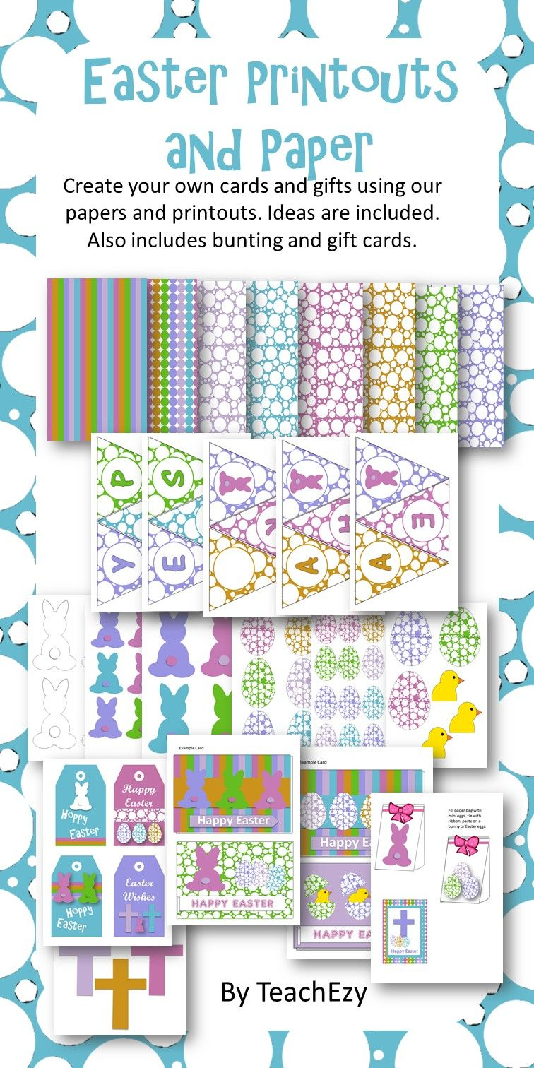 Easter print outs and paper easter easter print outs and paper easter activities gift cards negle Images