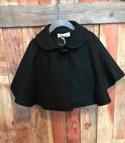 Winter Hooded Cape Coat A07335 Cape Fashion Cape Coat Outfit Black Cape Coat