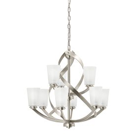 Kichler Layla 9 Light Brushed Nickel Modern Contemporary Etched