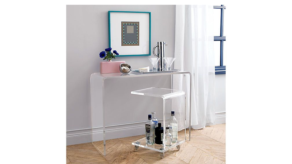 Peekaboo 38 Acrylic Console Table Reviews Console Table