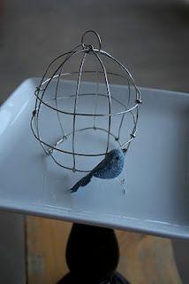 Birdcage and Glitter Bird Tutorial