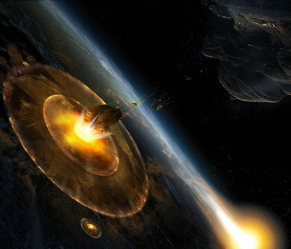 Meteor impact on a giant planet the end of the world the planet wallpaper space meteor impact on a giant planet the end of the world the planet voltagebd Images