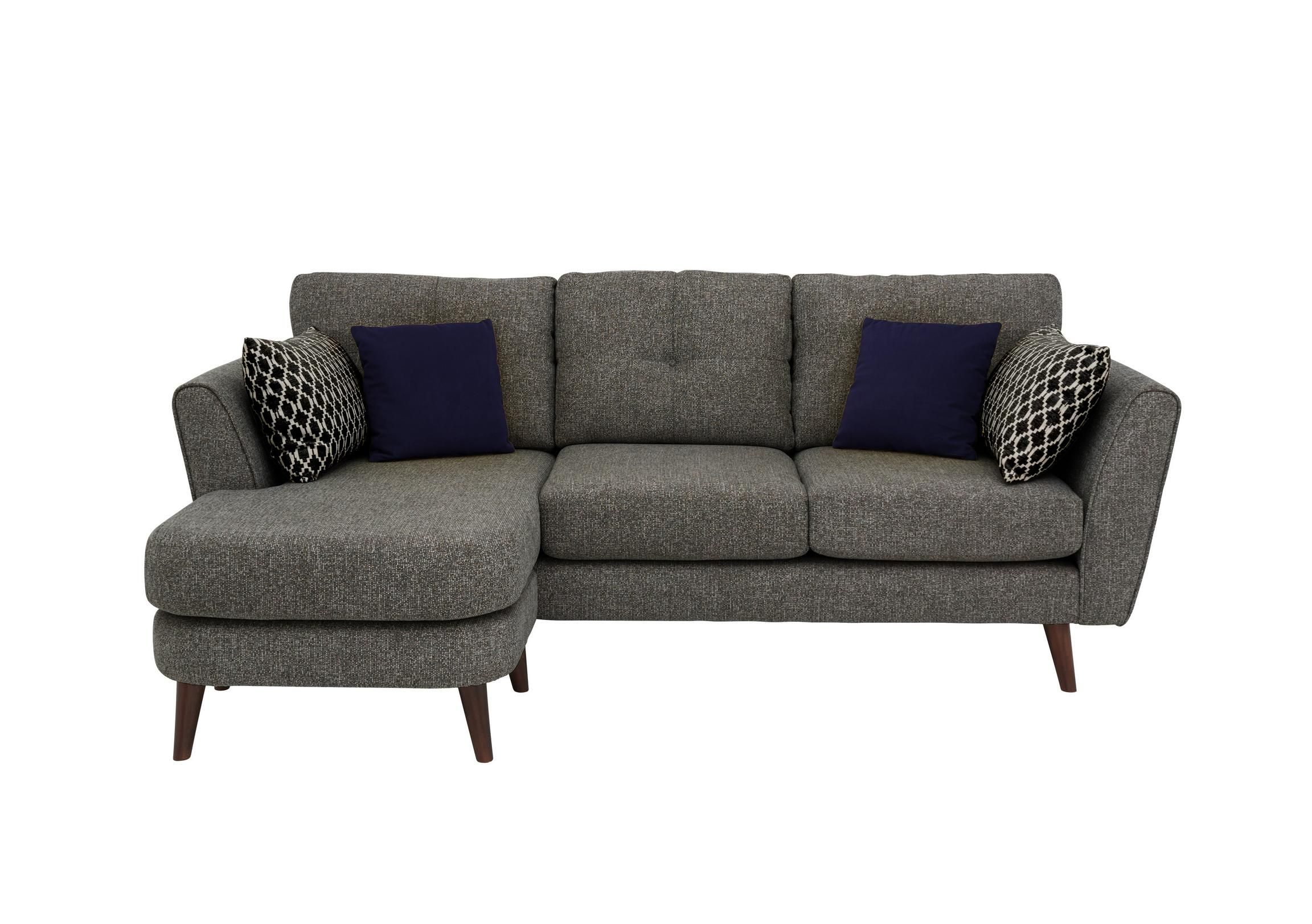 Connection 3 Seater Classic Back Fabric Chaise Sofa Chaise Sofa Sofa Furniture Village