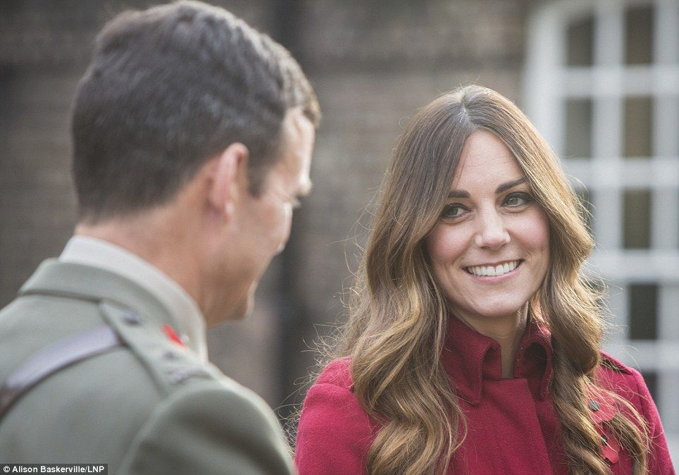 The Royal couple met with former and serving soldiers at Kensington Palace and also on High Street Kensington