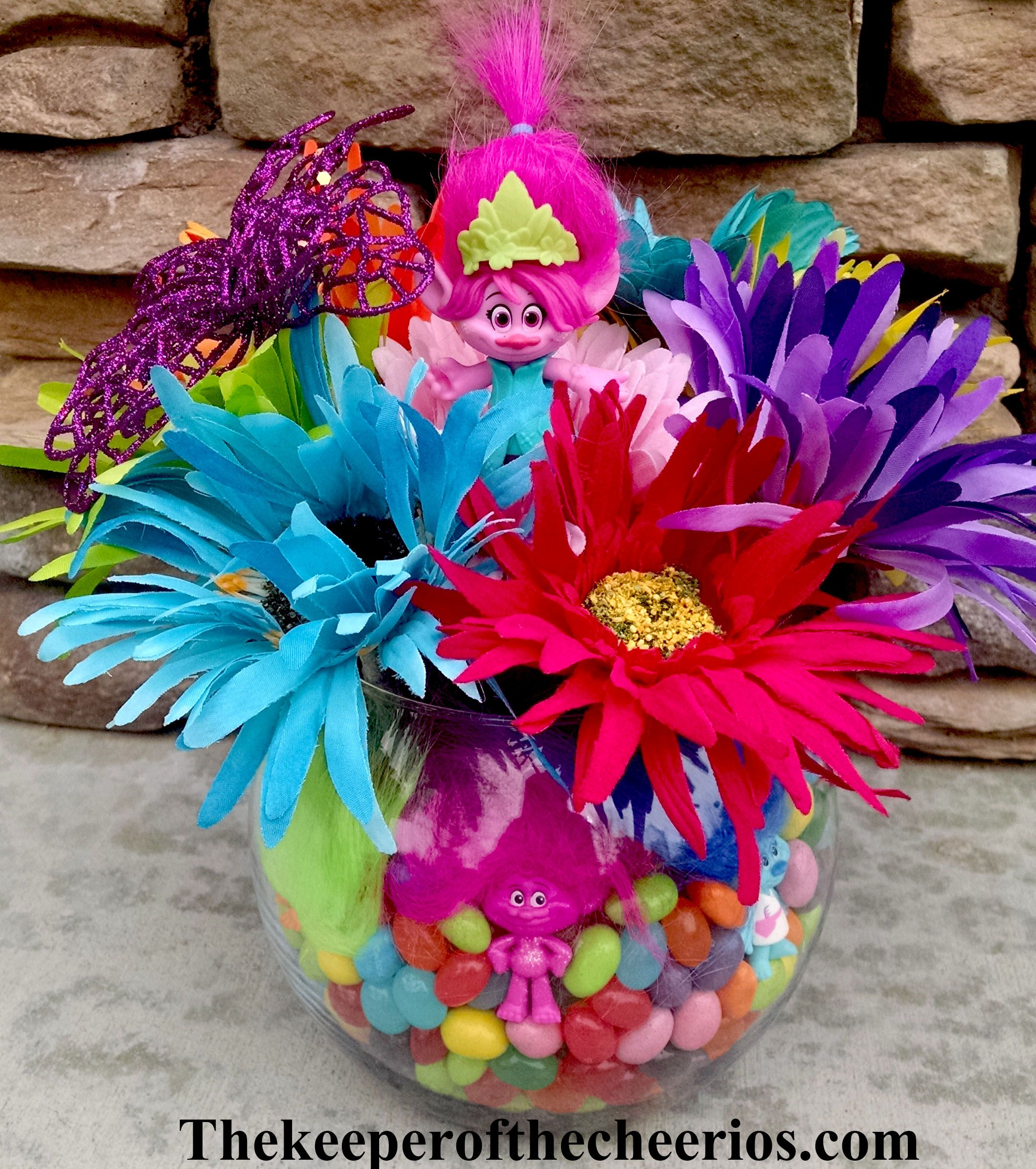 Trolls party centerpiece idea party pinterest troll party trolls birthday party centerpiece ideas these are all lovely i sooo like them dhlflorist Image collections