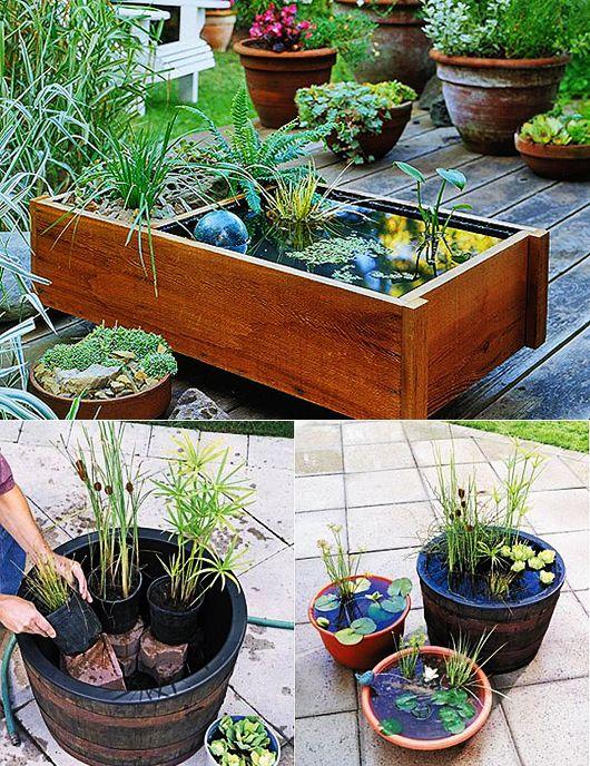 Schon DIY Wassergarten Als Kreative Gartendeko Terassen Treppe, Balkon  Verschönern, Treppen, Selber Machen Garten