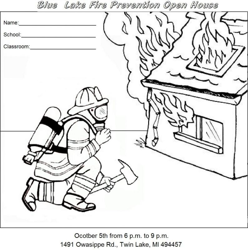 Cut Out Coloring Pages Fire Trucks Fire Safety Websites For ...