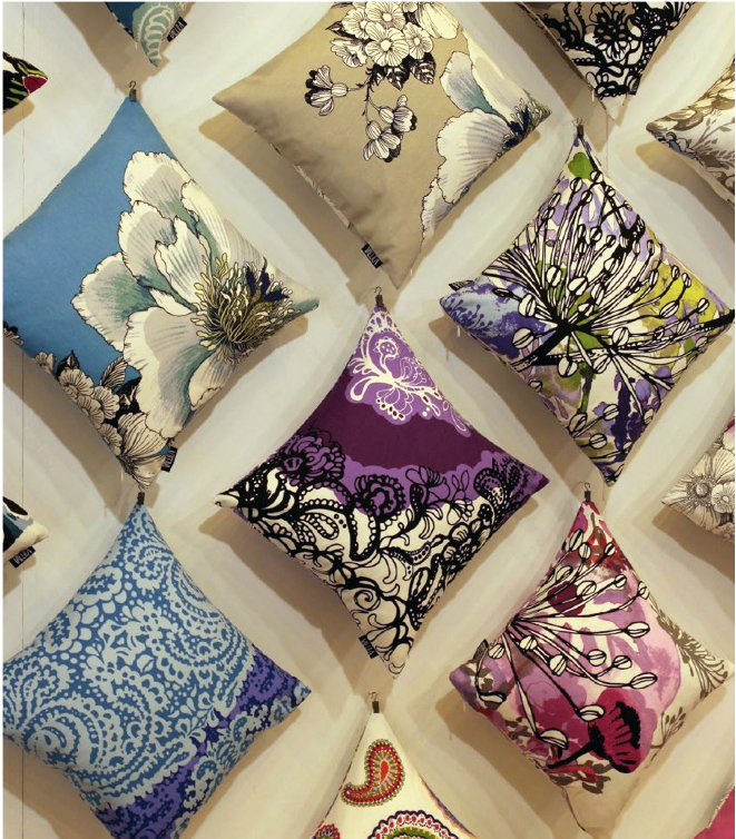 Vallila Cushion display at Top Drawer 2014