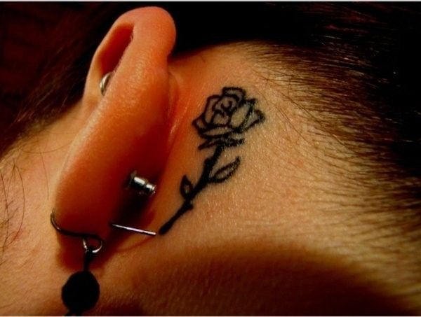 61 Small Rose Tattoos Designs For Men And Women Rose Tattoo Behind Ear Small Rose Tattoo Tattoos