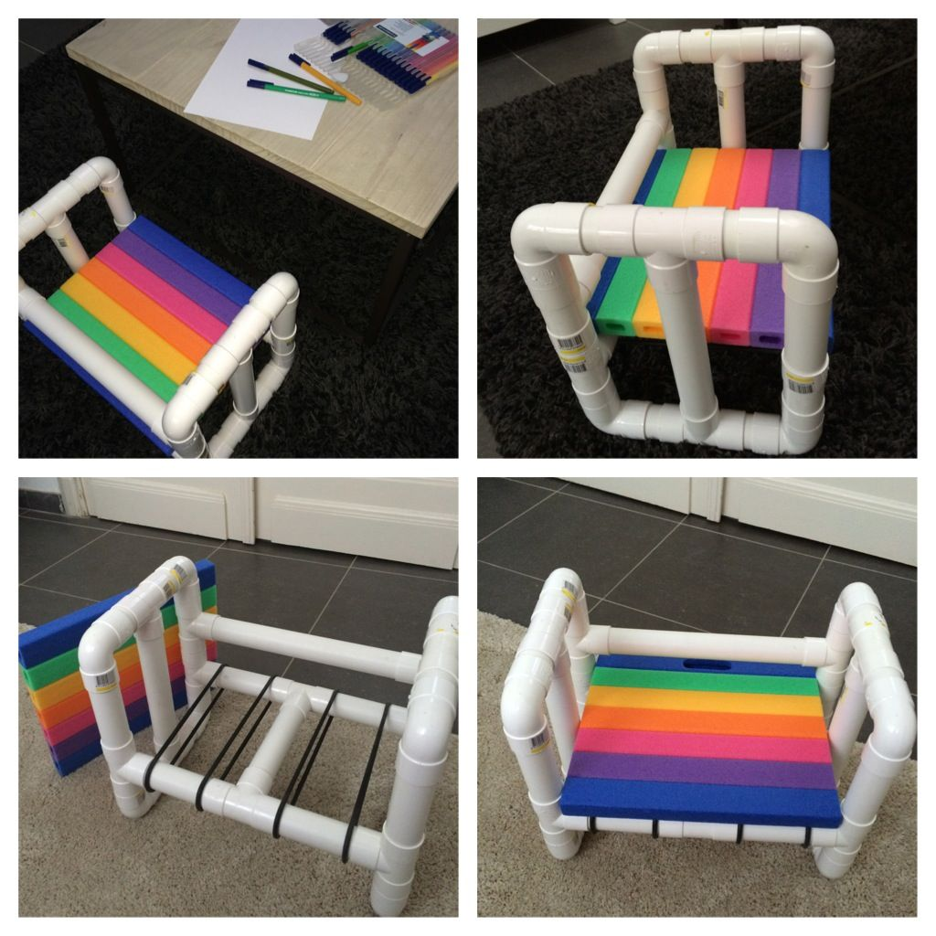Pvc Pipe Patio Furniture Plans: I Made A Little Chair For Children Out Of PVC Pipes DIY