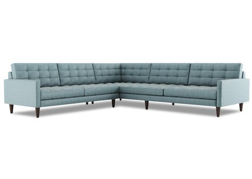 Tyler 3 Piece L Shape Sectional Mid Century Modern Sectional Furniture Mid Century Modern Sofa