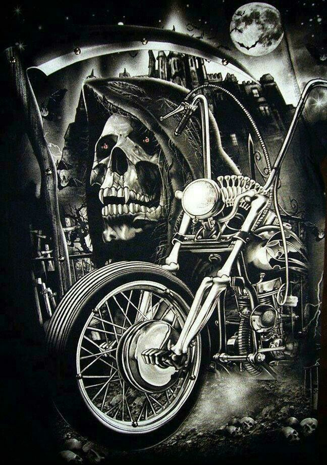 Grim reapermotorcycle skulls wallpaper pinterest grim skull reaper and bike voltagebd Images