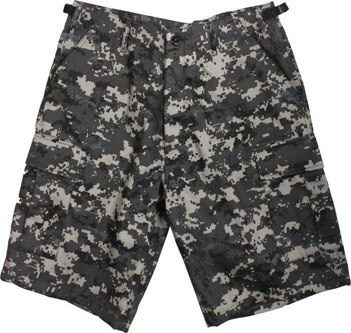 Rothco Digital Camo Military Shorts Men/'s Sky Blue Digital Camo BDU Shorts