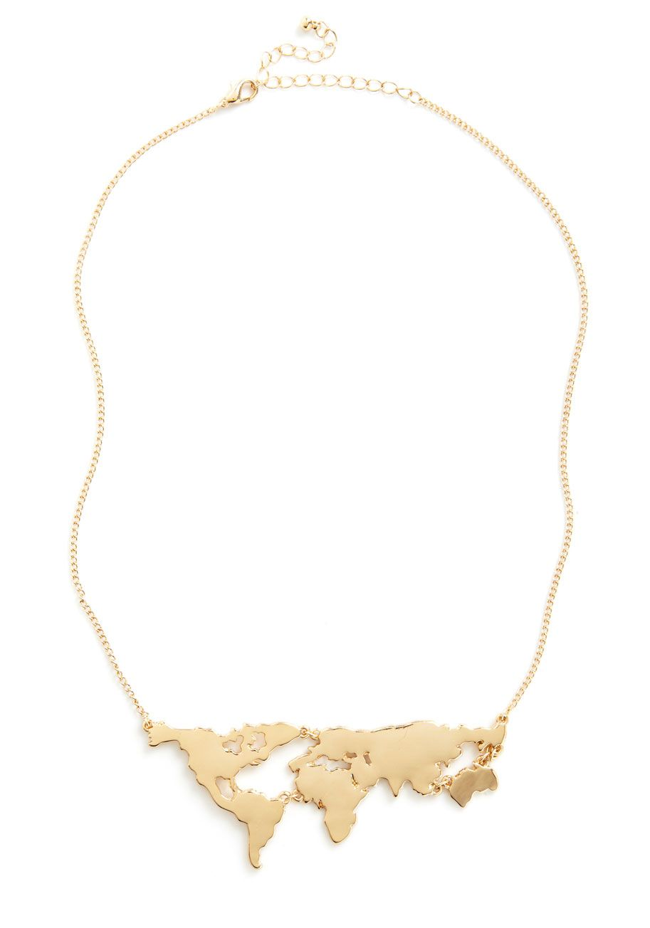 World you rather pendant necklace map necklace gold and modcloth world you rather pendant necklace gold mapworld gumiabroncs Image collections