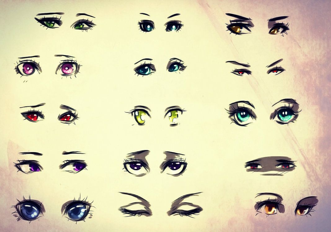 Character Eyes Reference Sheet By Ryky On Deviantart Eyes
