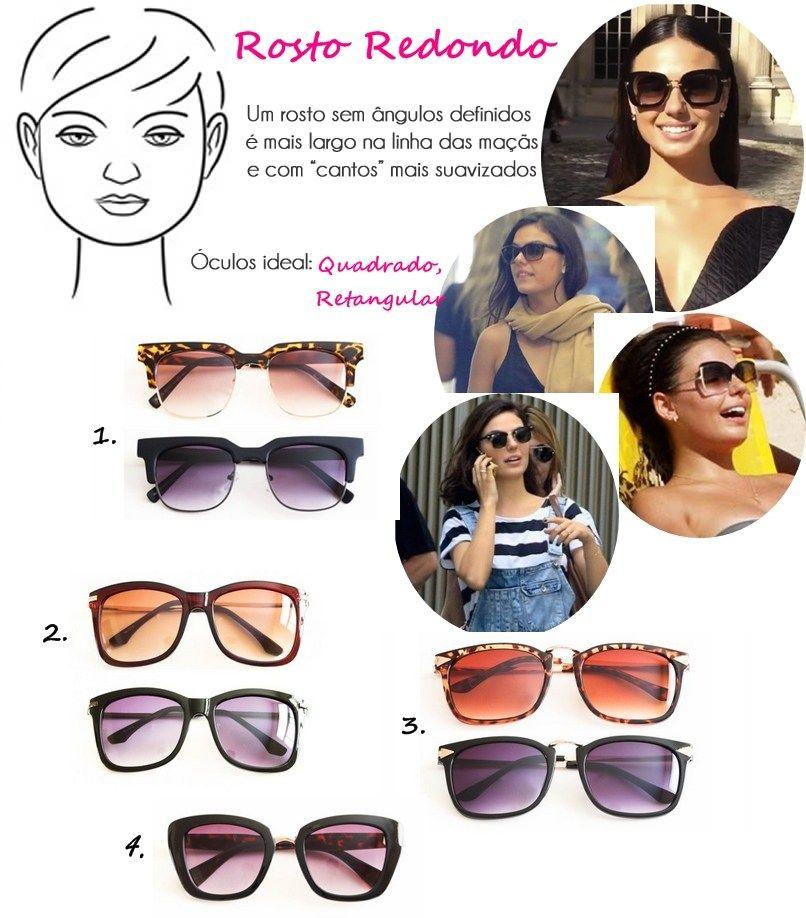 8403ce8a63037 Óculos de Sol Ideal para Cada Tipo de Rosto redondo