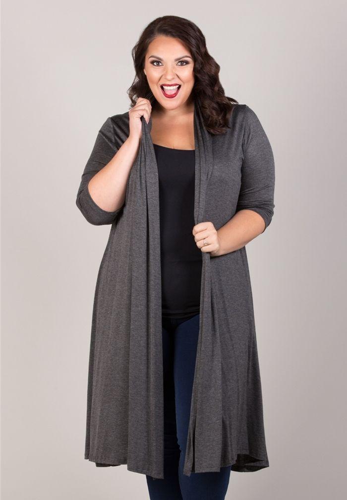 plus size tops | parker long cardigan | swakdesigns: | basic
