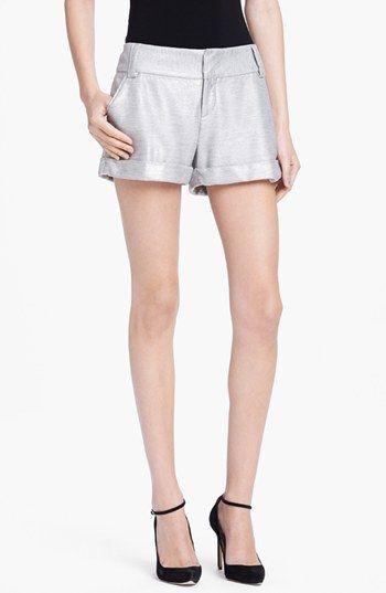 #Alice + Olivia           #Bottoms                  #Alice #Olivia #Cuffed #Cady #Shorts #Silver #Foil  Alice + Olivia Cuffed Cady Shorts Silver Foil 6                               http://www.seapai.com/product.aspx?PID=5382459