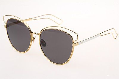 Christian Dior Sideal2 Sunglasses in Gold White With Gradient Grey Lenses