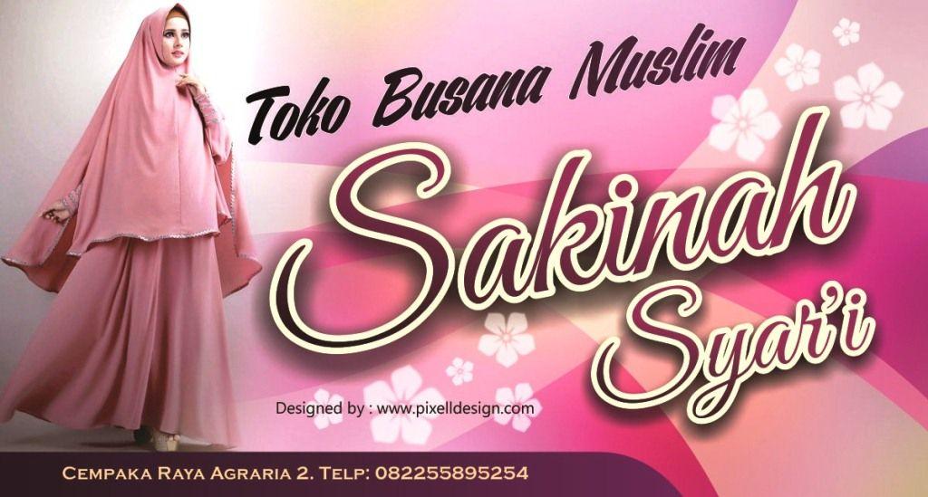 Contoh Desain Spanduk Toko Hijab - desain spanduk keren