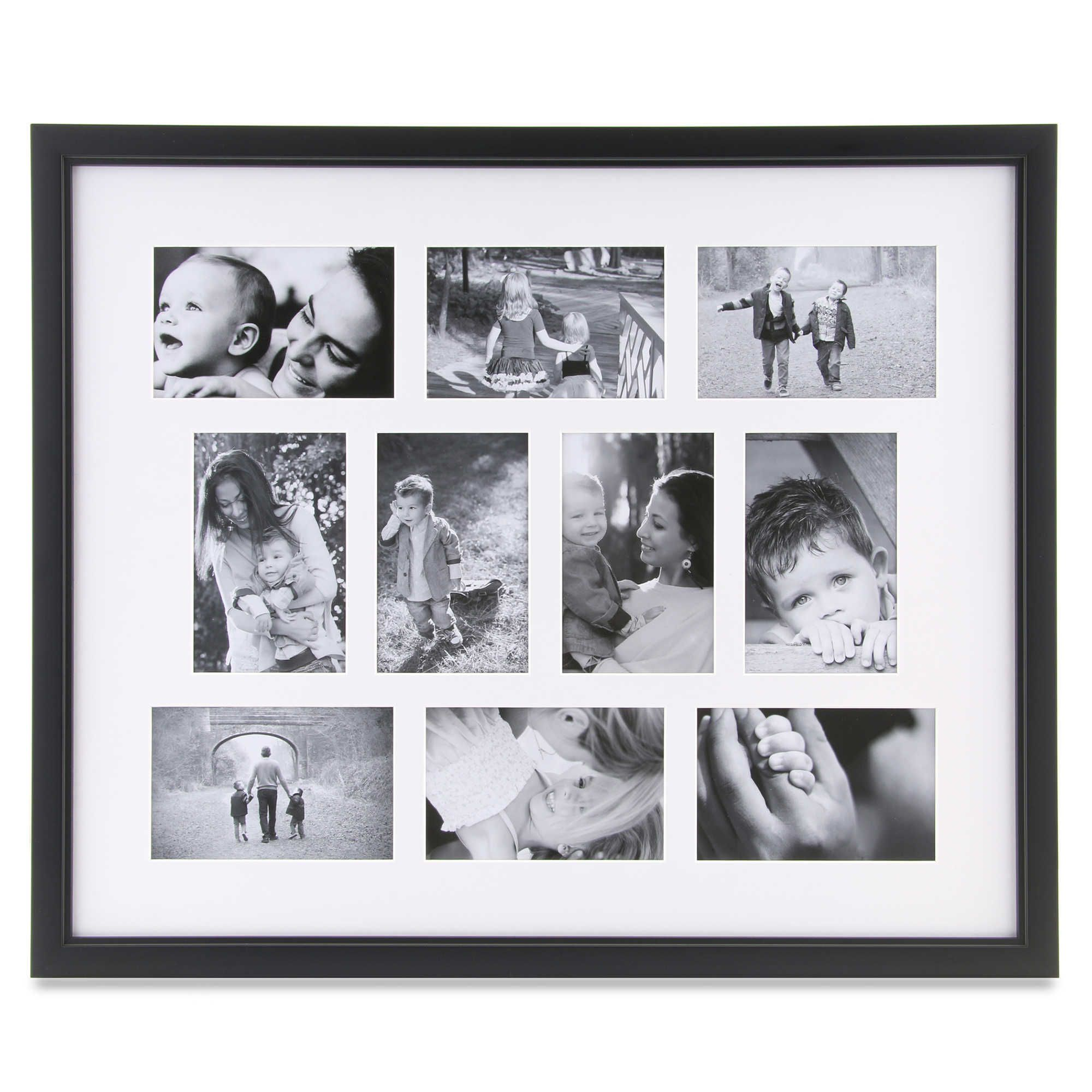 10-Photo Collage Frame in Black | 11818 Blanchet Drive | Pinterest