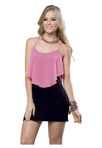 255aeeceaa Vestido Juvenil Femenino Negro Marketing Personal 52813 Marketing Personal