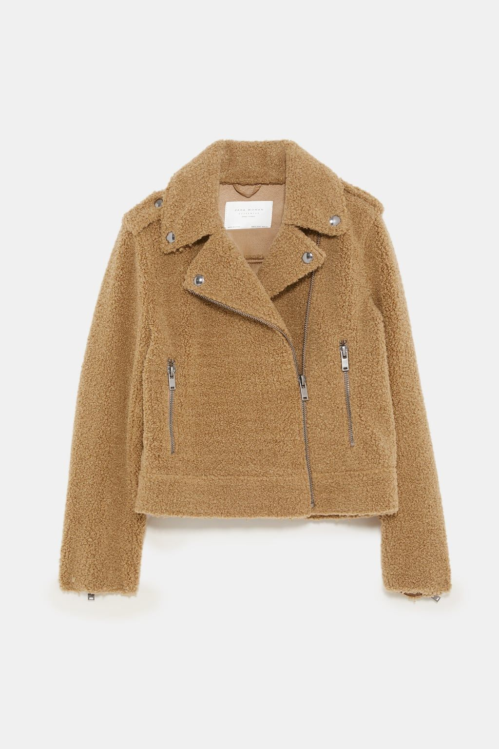 Faux fur biker jacket Faux fur biker jacket, Jackets, Zara