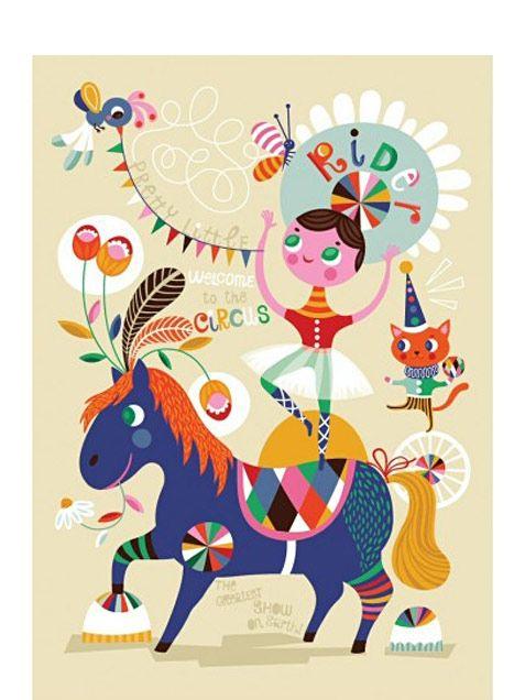 Pretty Little Rider Poster by Helen Dardik at Human Empire