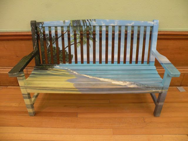 painted bench at kelvingrove art gallery museum in glasgow gorgeous - Garden Furniture Glasgow