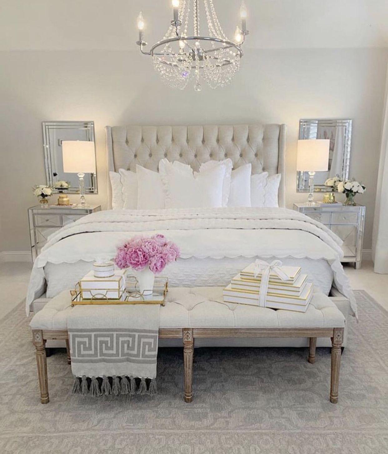 Pinterest Sarah Baker Classy Bedroom Glam Decor Master Bedrooms