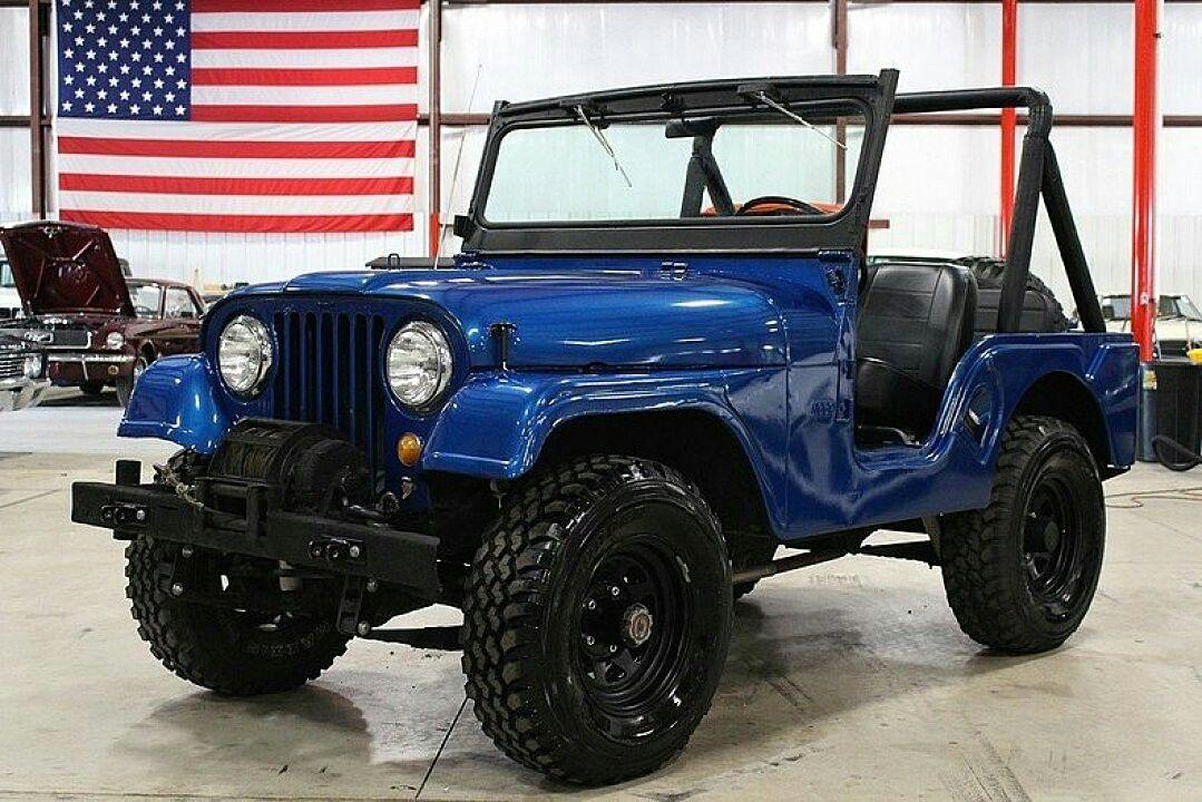 Jeep Cj5 Blue Jeep Cj Jeep Jeep Cj7