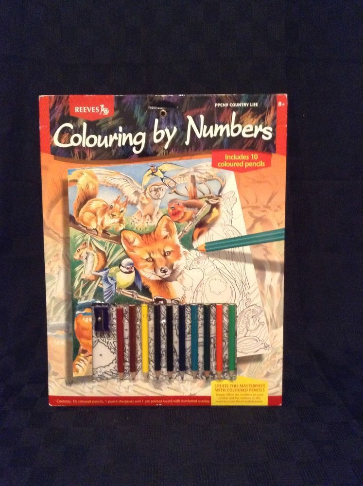 reeves color by number ppcn9 country life kids fun animals nature