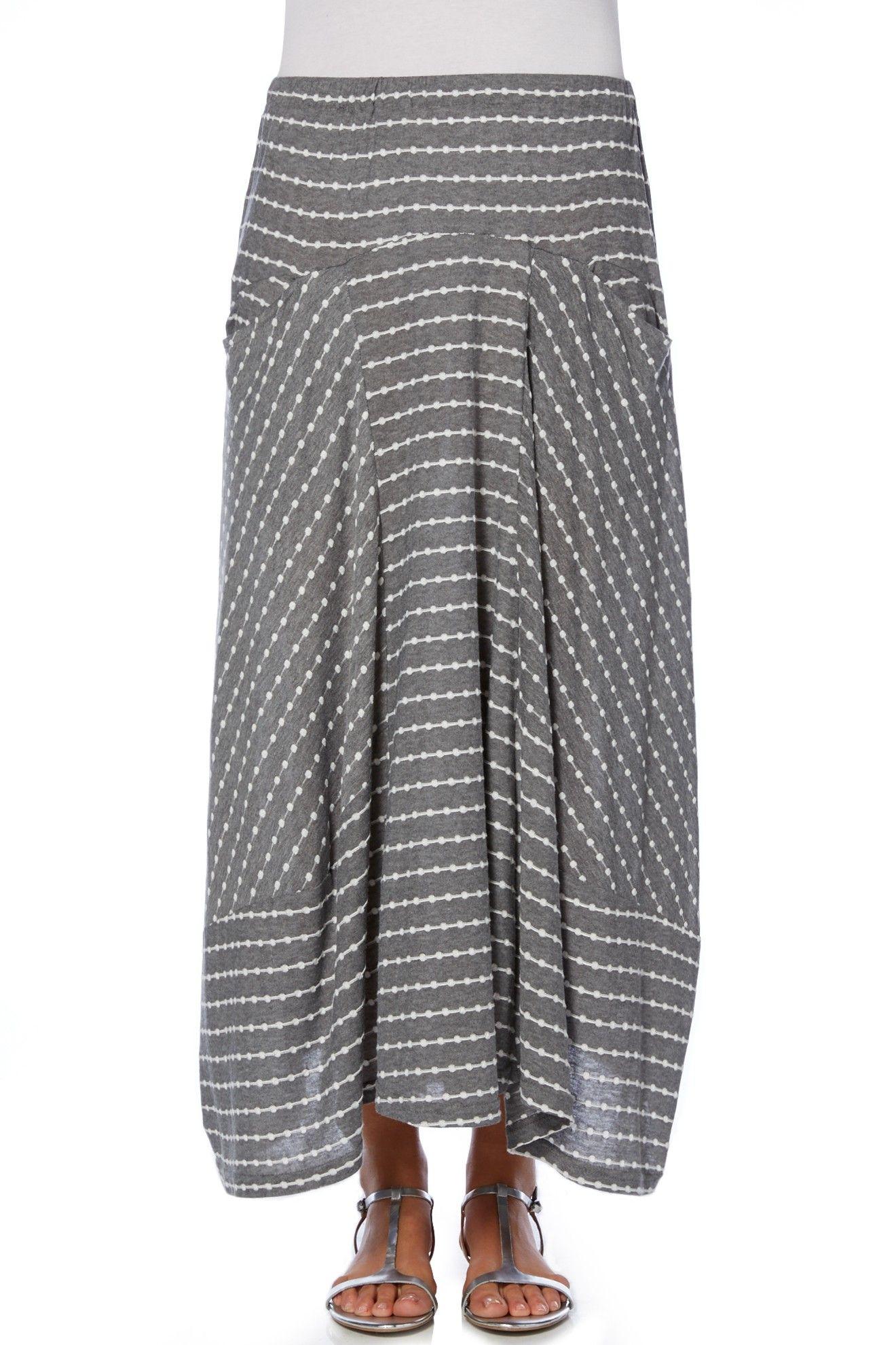 Sahara Dot Jersey Panel Skirt