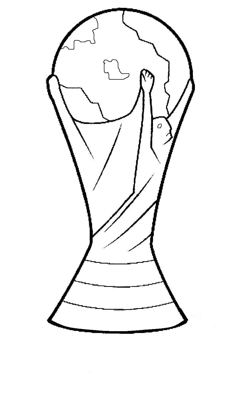 Um Trofel Da Fifa World Cup Brazil Desenhos Desenhos Simples
