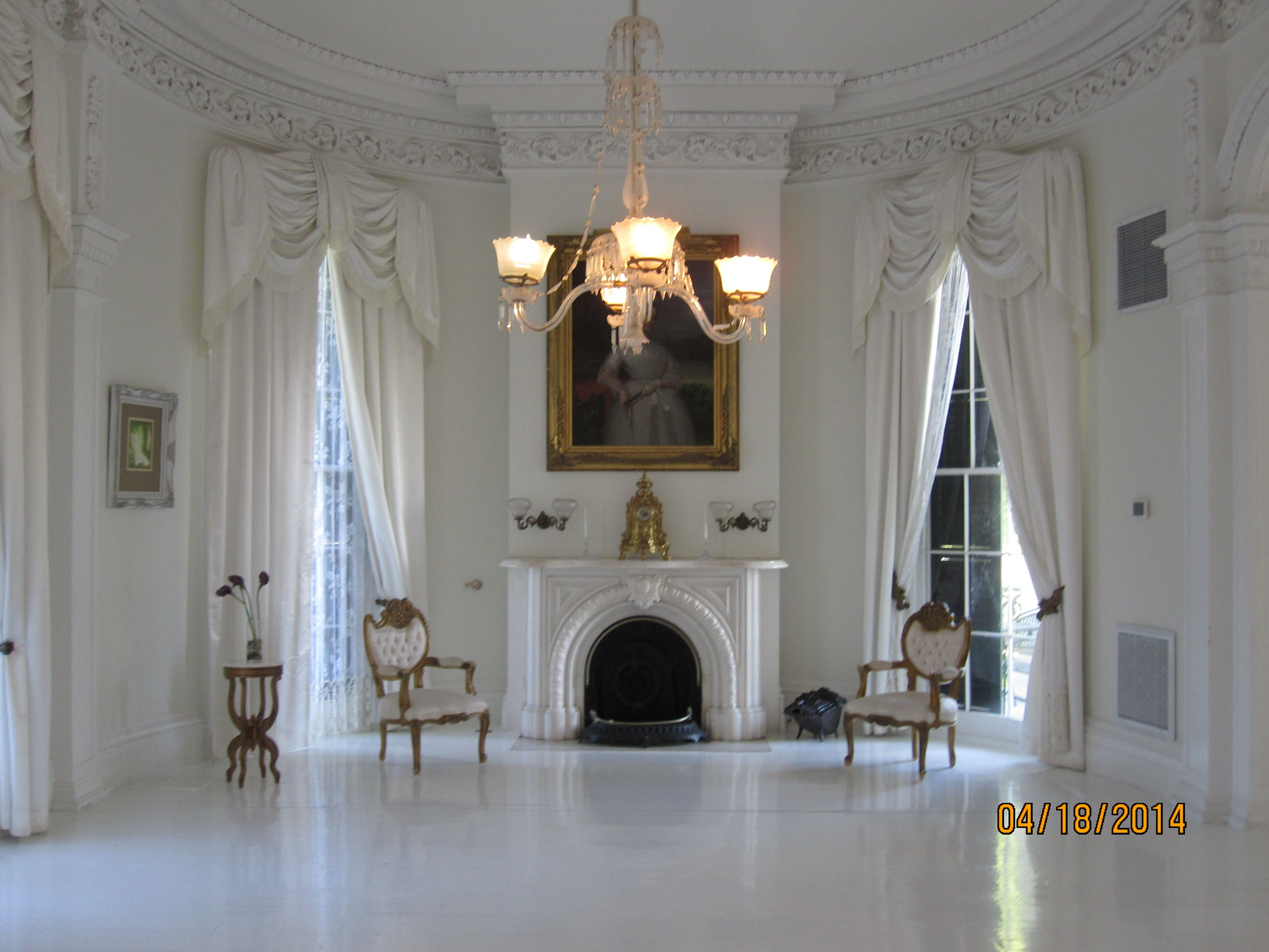 "the white ballroom"" at nottoway plantation in white castle"